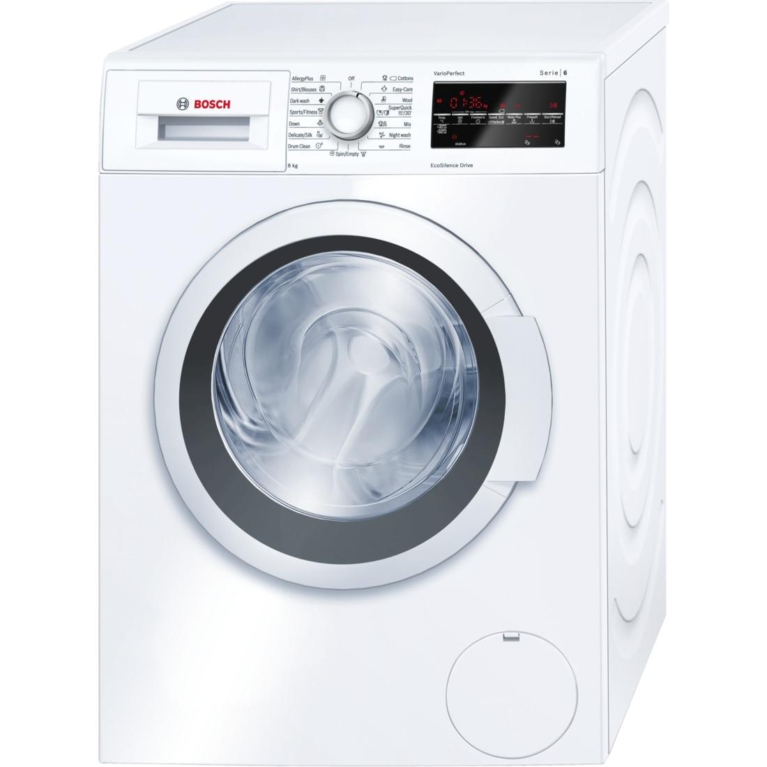 Fotografie Masina de spalat rufe Bosch WAT24460BY, 8 kg, 1200 RPM, Clasa A+++, 60 cm, Alb