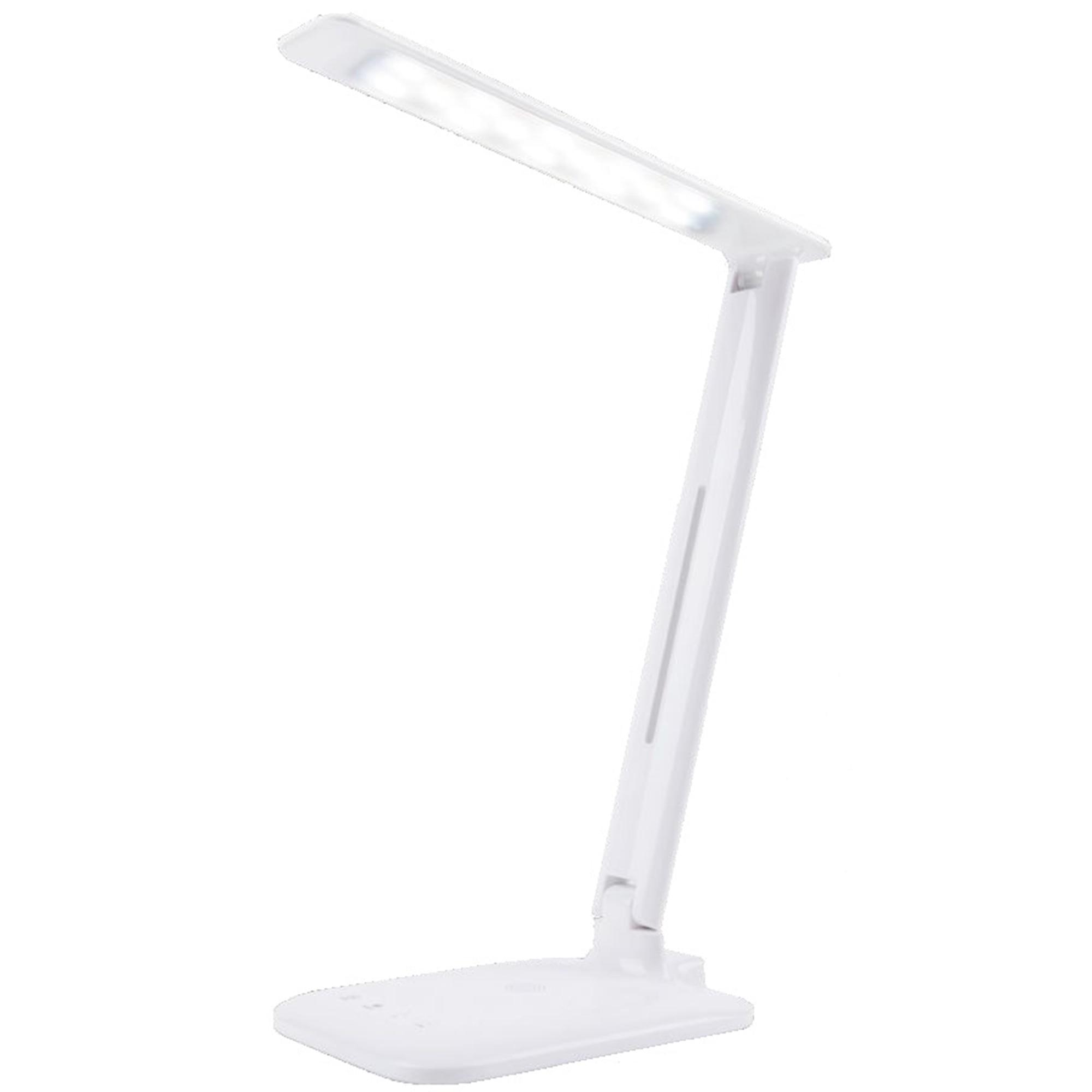 Fotografie Lampa de birou cu LED Wink DE1004, modul incarcare wireless pentru telefon cu sistem Android, control cu touch, USB, lumina calda si rece