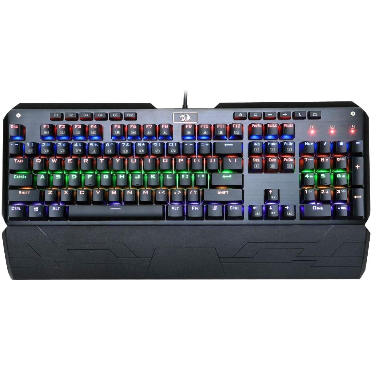 Fotografie Tastatura Redragon Indrah Mecanica, Gaming, Iluminata, USB, Negru