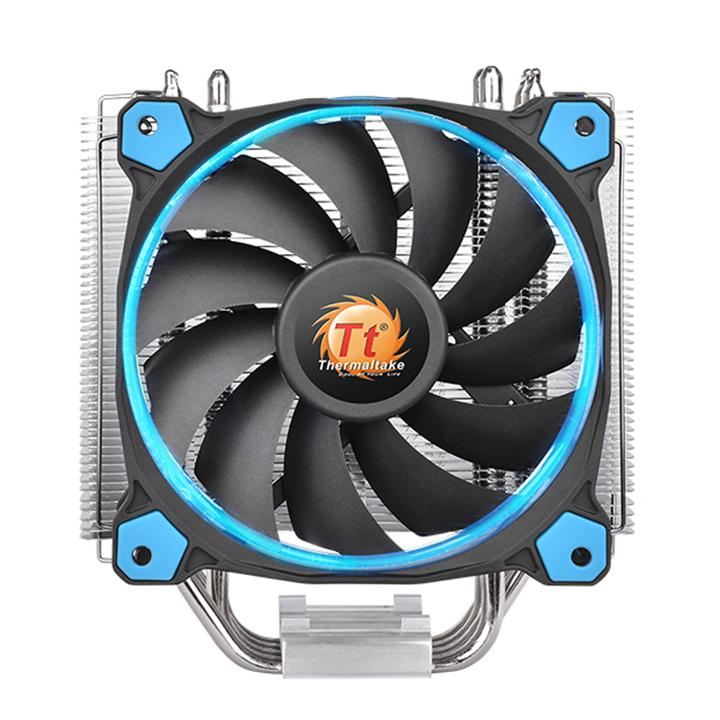 Fotografie Cooler Procesor Thermaltake Riing Silent 12, Compatibil Intel/AMD, Albastru