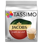 Capsule cafea, Jacobs Tassimo Café au Lait, 16 bauturi x 180 ml, 16 capsule
