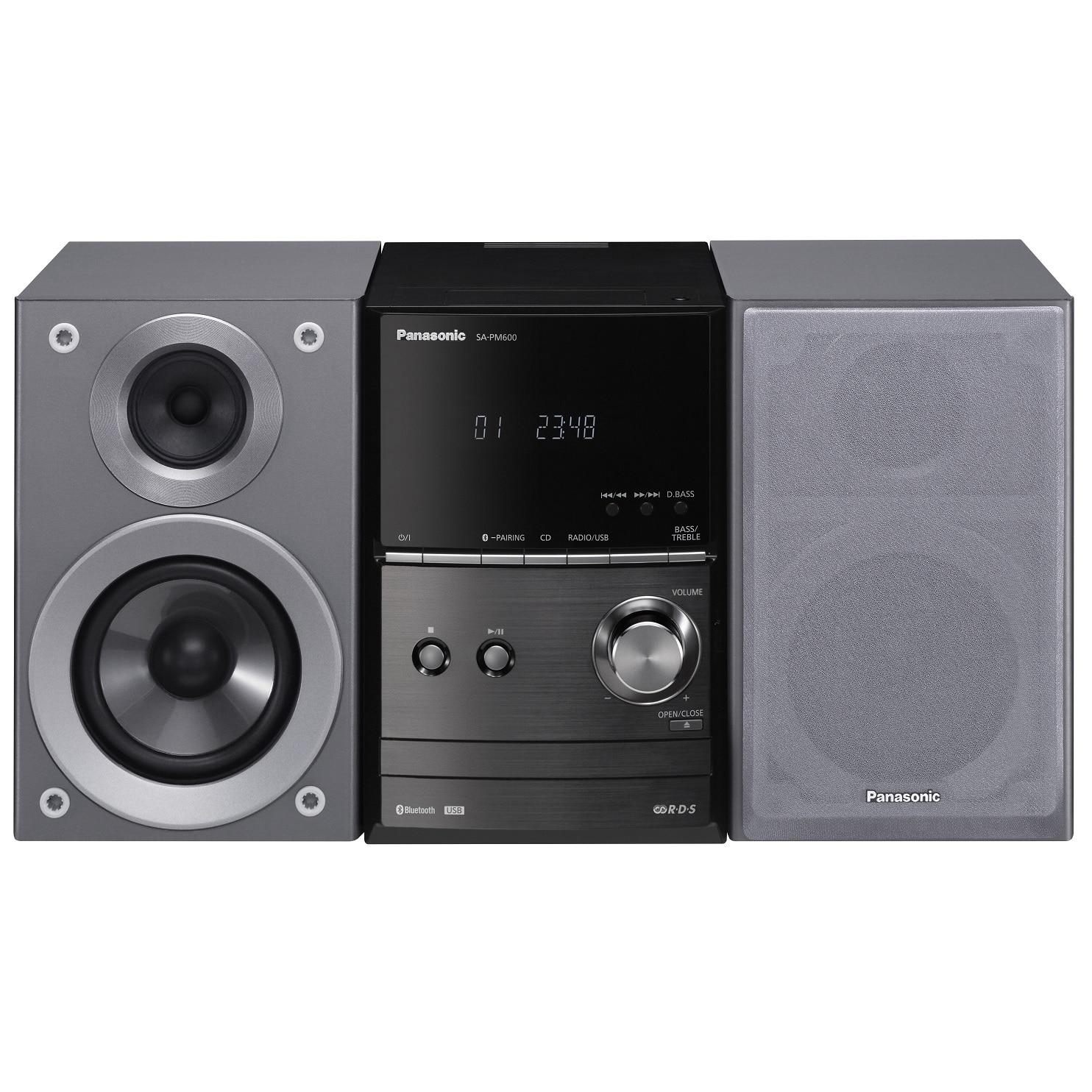 Fotografie Microsistem Panasonic SC-PM600EG-S, 40W, Bluetooth, USB, Argintiu