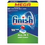 Detergent pentru masina de spalat vase Finish All in 1 Deep Clean, 100 spalari
