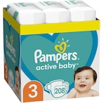 Пелени Pampers Active Baby XXL BOX, Размер 3, 6 - 10 кг, 208 броя