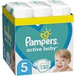 Пелени Pampers Active Baby XXL BOX, Размер 5, 11-16 кг, 150 броя