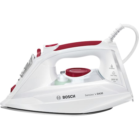 Fier de calcat Bosch Sensixx'x TDA302801W, 2800 W, 0.32 l, 180 g/min, Talpa Ceranium-Glissee, Alb