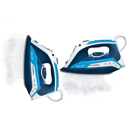 Fier de calcat Bosch TDA5024210, Talpa Ceranium-Glissee, 2450W, 0.35 l, 180 g/min, 40 g/min, Albastru