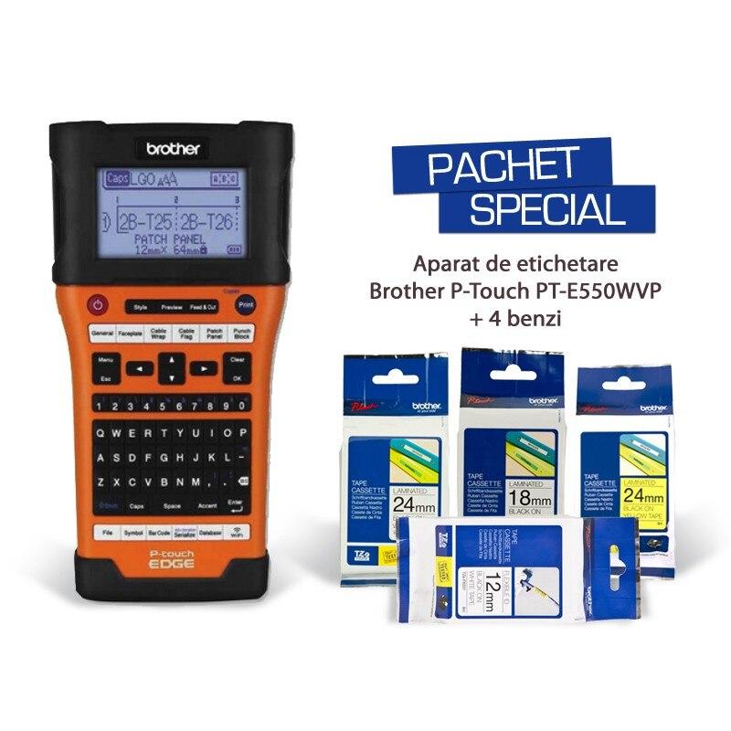Fotografie Aparat de etichetare Brother P-Touch PT-E550WSP, pachet special
