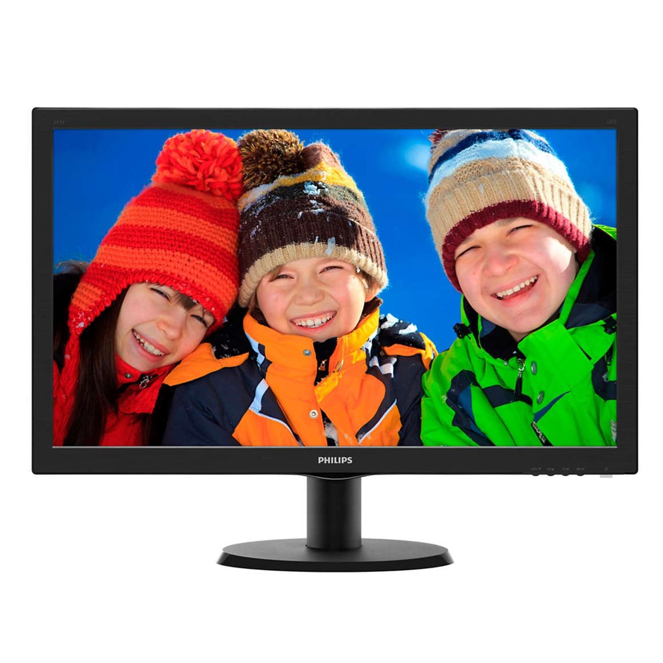 """Fotografie Monitor LED MVA Philips 23.6"""", Wide, FHD, DVI, HDMI, 243V5QHSBA, Negru"""