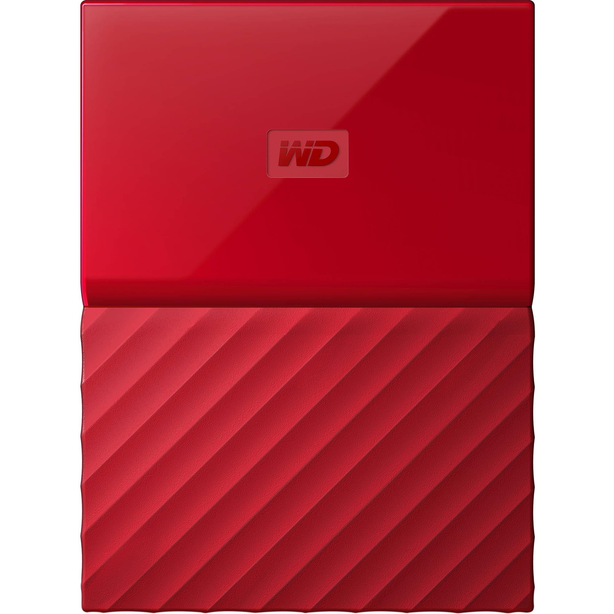 """Fotografie HDD extern WD My Passport 1TB, 2.5"""", USB 3.0, Rosu"""