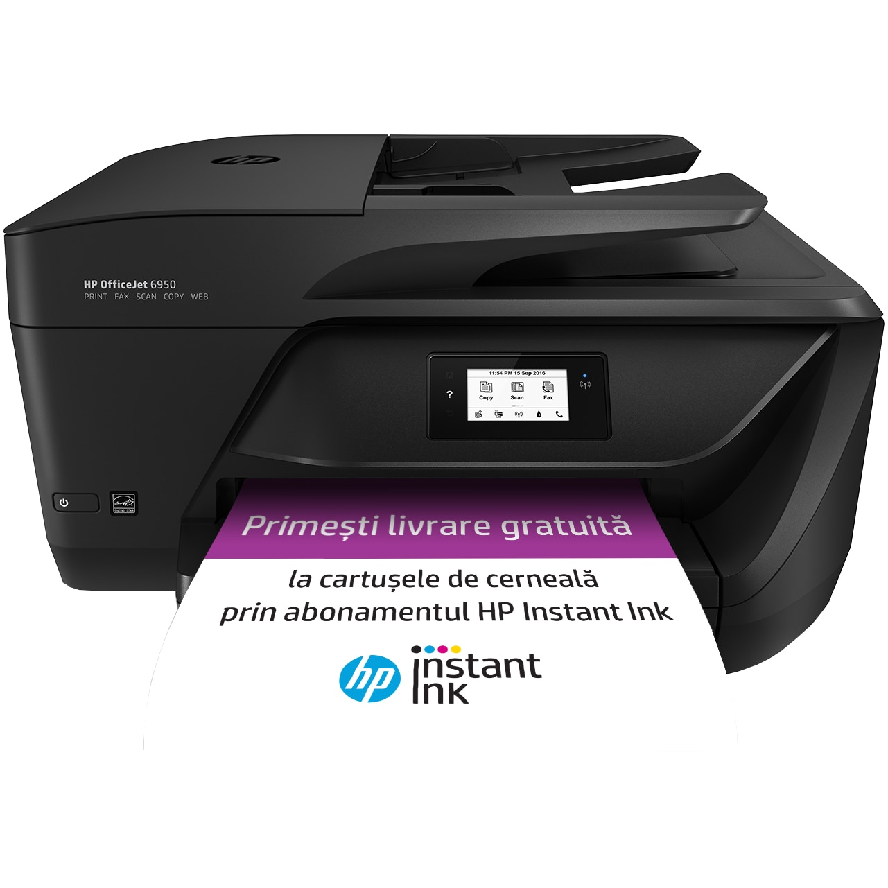 Fotografie Multifunctional HP OfficeJet 6950 All-in-One, eligibil HP Instant Ink, A4, Wireless, Fax, ADF