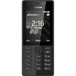 Nokia 216 Mobiltelefon, Kártyafüggetlen, Dual Sim, Fekete