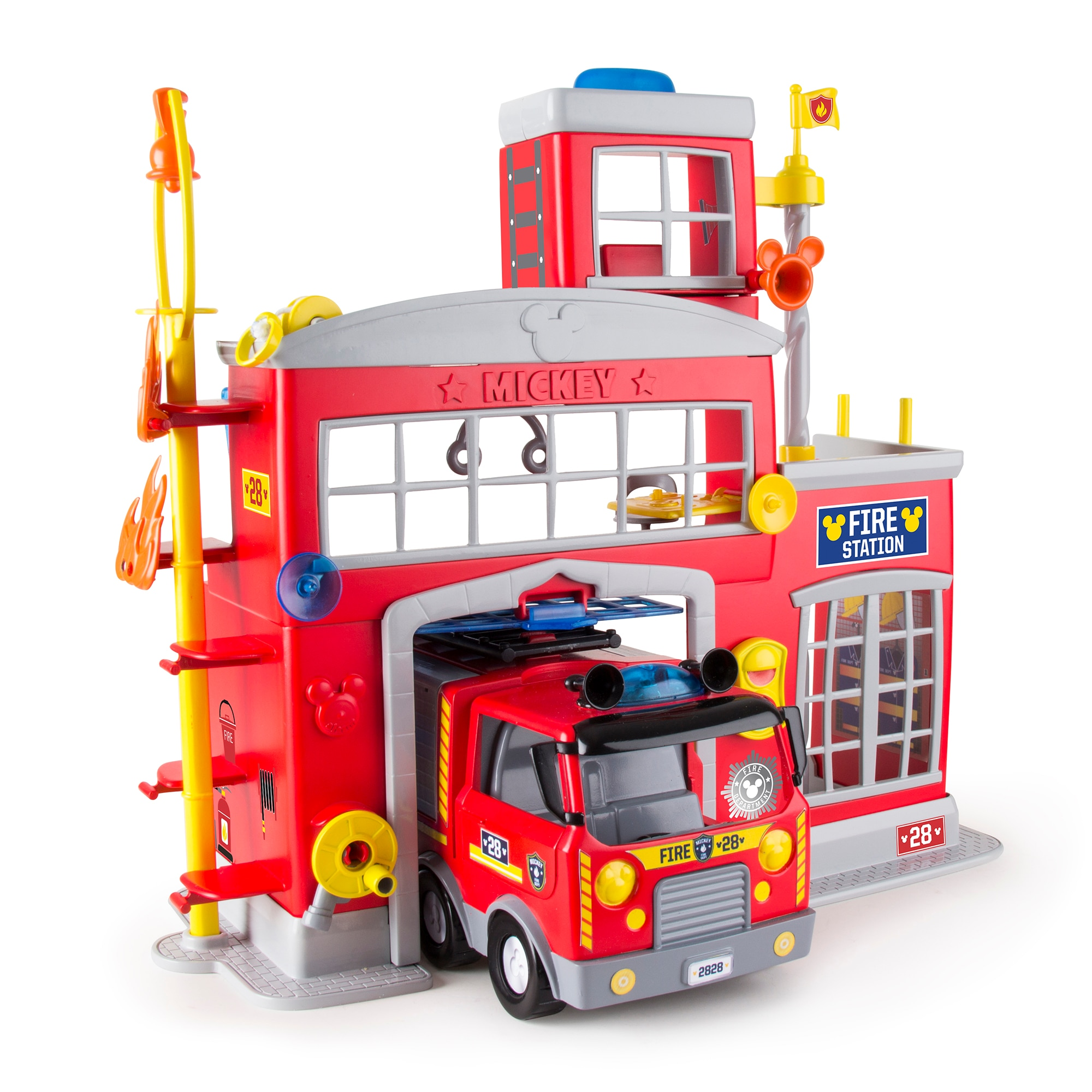 Fotografie Set de joaca IMC, Statia de pompieri a lui Mickey Mouse