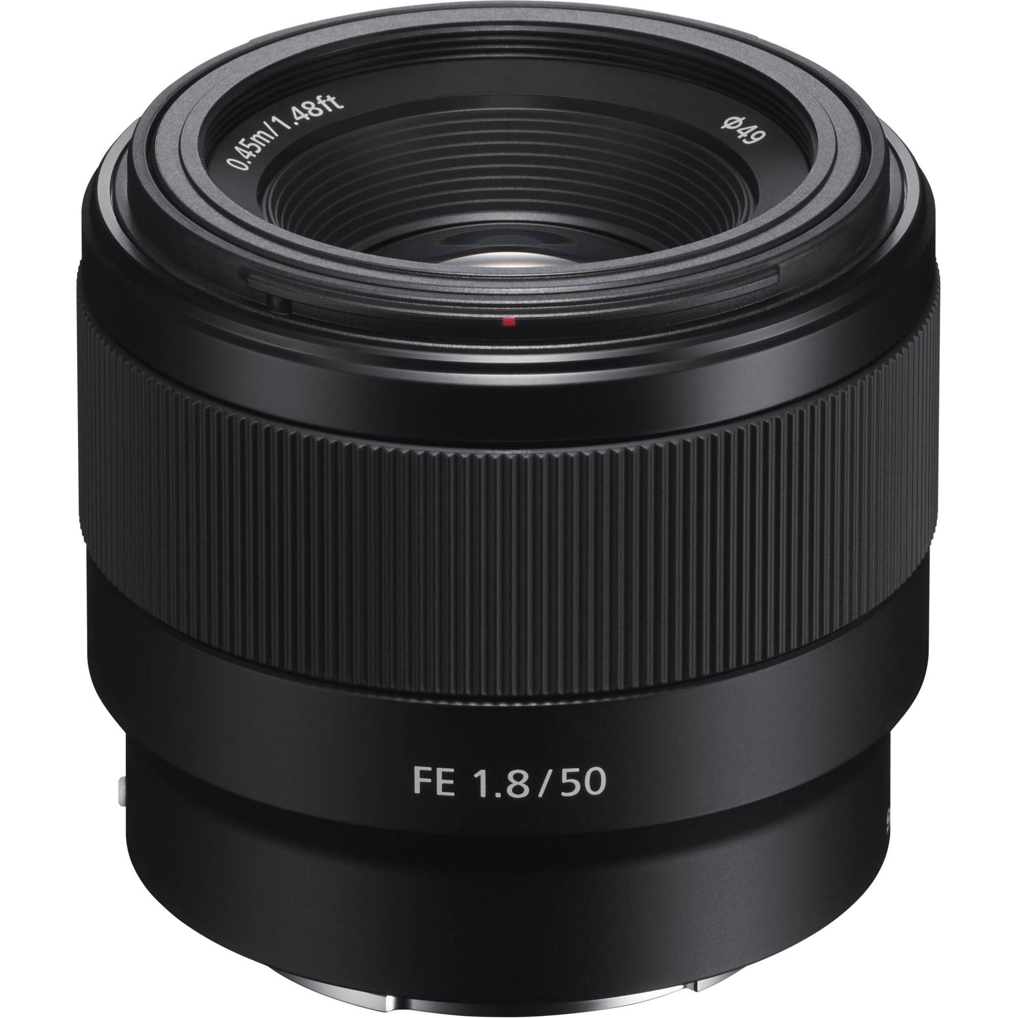 Fotografie Obiectiv Sony, montura FE, 50mm. f1.8, Negru