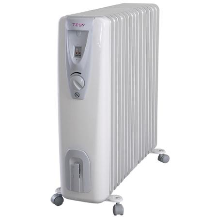 Calorifer electric TESY CB 3014 E01 R, 3000 W, 14 elementi, 3 trepte de putere, Termostat de siguranta, Termostat reglabil, Protectie anti-inghet