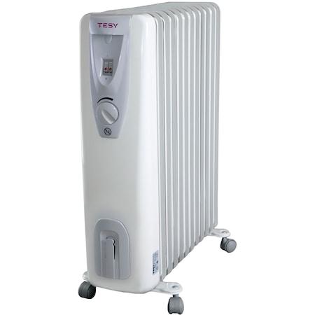 Calorifer electric TESY CB 2512 E01 R, 2500 W, 12 elementi, 3 trepte de putere, Termostat de siguranta, Termostat reglabil, Protectie anti-inghet