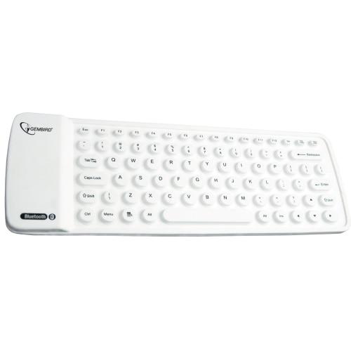 Fotografie Tastatura Gembird KB-BTF1-W-US, Bluetooth, Alb