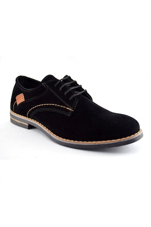 Pantofi barbatesti negri piele intoarsa, 44