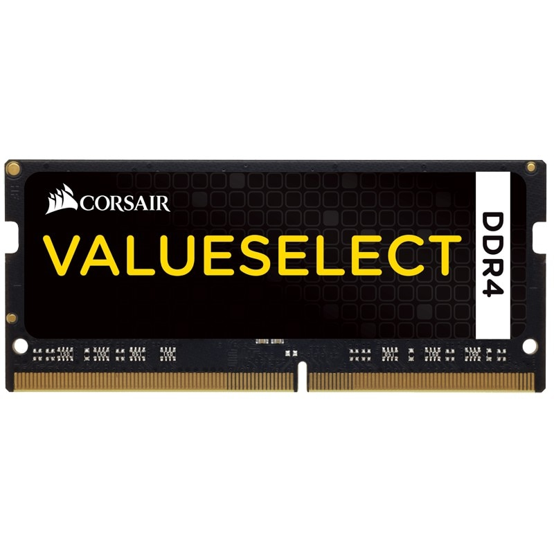 Fotografie Memorie Corsair ValueSelect 4GB SODIMM, DDR4, 2133 MHz, CL 15, 1.2V, Black