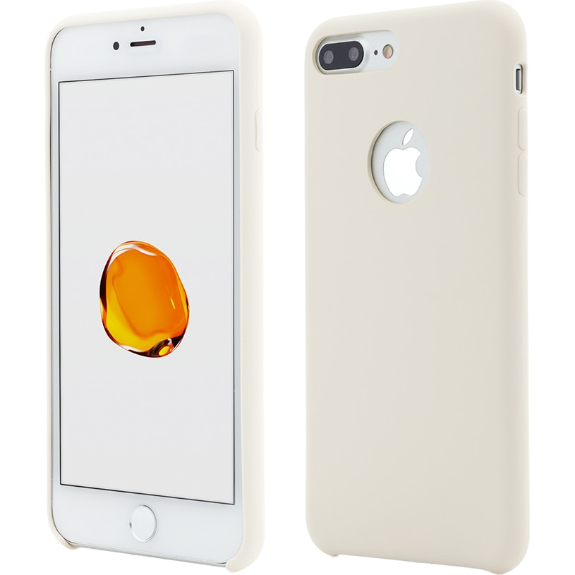 Fotografie Husa de protectie Vetter Clip-On Soft Touch Silk Series pentru iPhone 8 Plus / iPhone 7 Plus, Beige