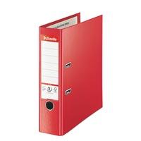 Biblioraft Esselte No.1 Power Jumbo Plus, PP/PP, A4, 80mm, VIVIDA rosu