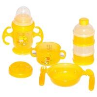 Potato 7 db-os műanyag baba étkészlet, gyerek étkészlet, ajándék