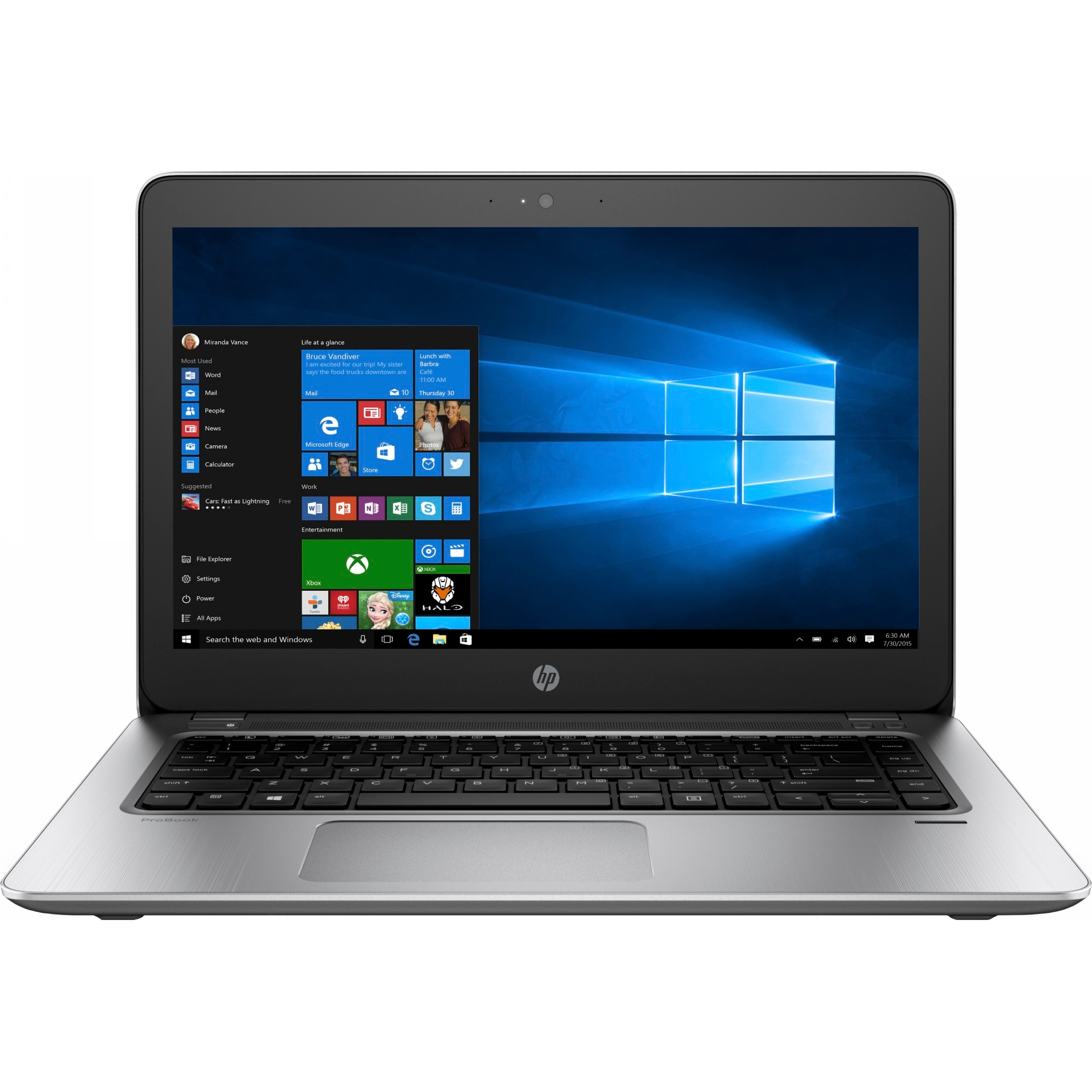"Fotografie Laptop ultraportabil HP Probook 440 G4 cu procesor Intel® Core™ i5-7200U 2.50 GHz, Kaby Lake, 14"", 4GB, 500GB, Intel® HD Graphics 620, FPR, Microsoft Windows 10, Silver"