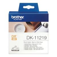 Banda de etichete Brother DK11219, 12mm diametru, 1200 et./rola