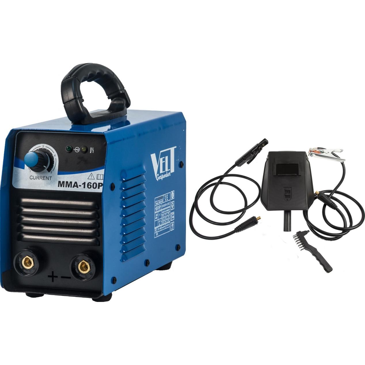 Fotografie Invertor de sudura Velt Gospodar MMA 160P, 160 A, 230 V, electrod 1.6-4 mm, 3.6 kg