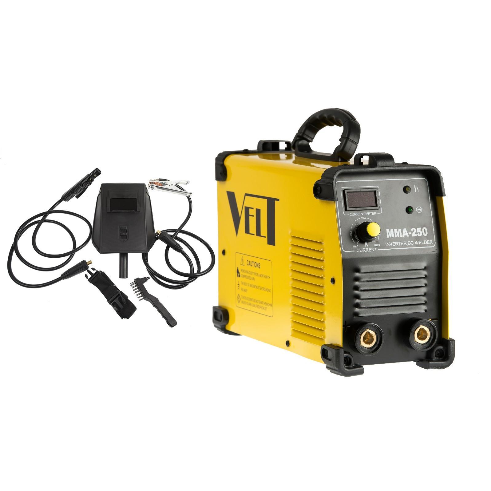 Fotografie Invertor de sudura industrial Velt MMA 250, 250 A, 230 V, electrod 5 mm + accesorii