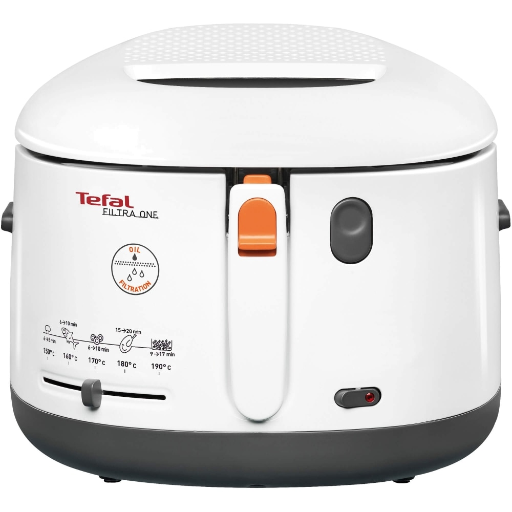 Fotografie Friteuza Tefal FF162131 Filtra One, coolwall, Termostat ajustabil, 1,2 kg, Alb