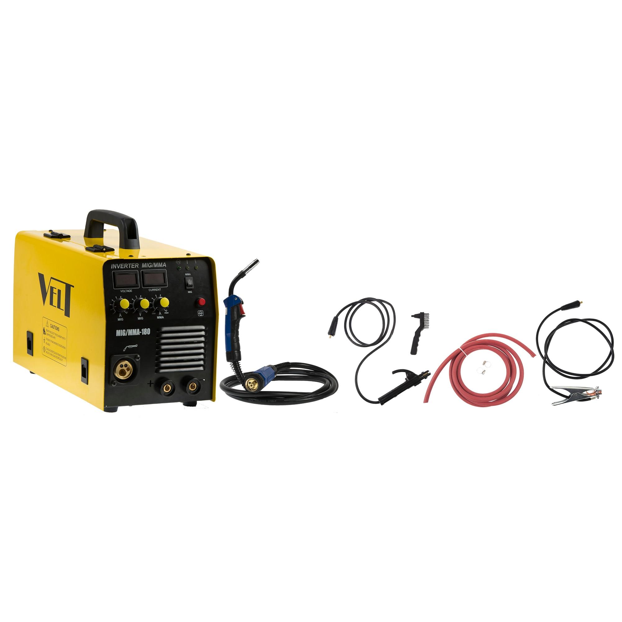 Fotografie Invertor de sudura profesional Velt MIG/MMA 180, 180 A, 230 V, diamentru sarma 0.6-1 mm, 16 kg, accesorii incluse