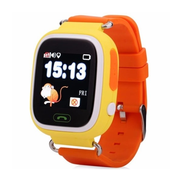 Fotografie Ceas Gps Copii iUni Kid100, Touchscreen, BT, Telefon incorporat, Buton SOS, Orange