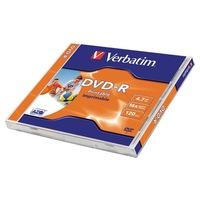 VERBATIM DVD-R lemez, nyomtatható, matt, ID, 4,7GB, 16x, normál tok