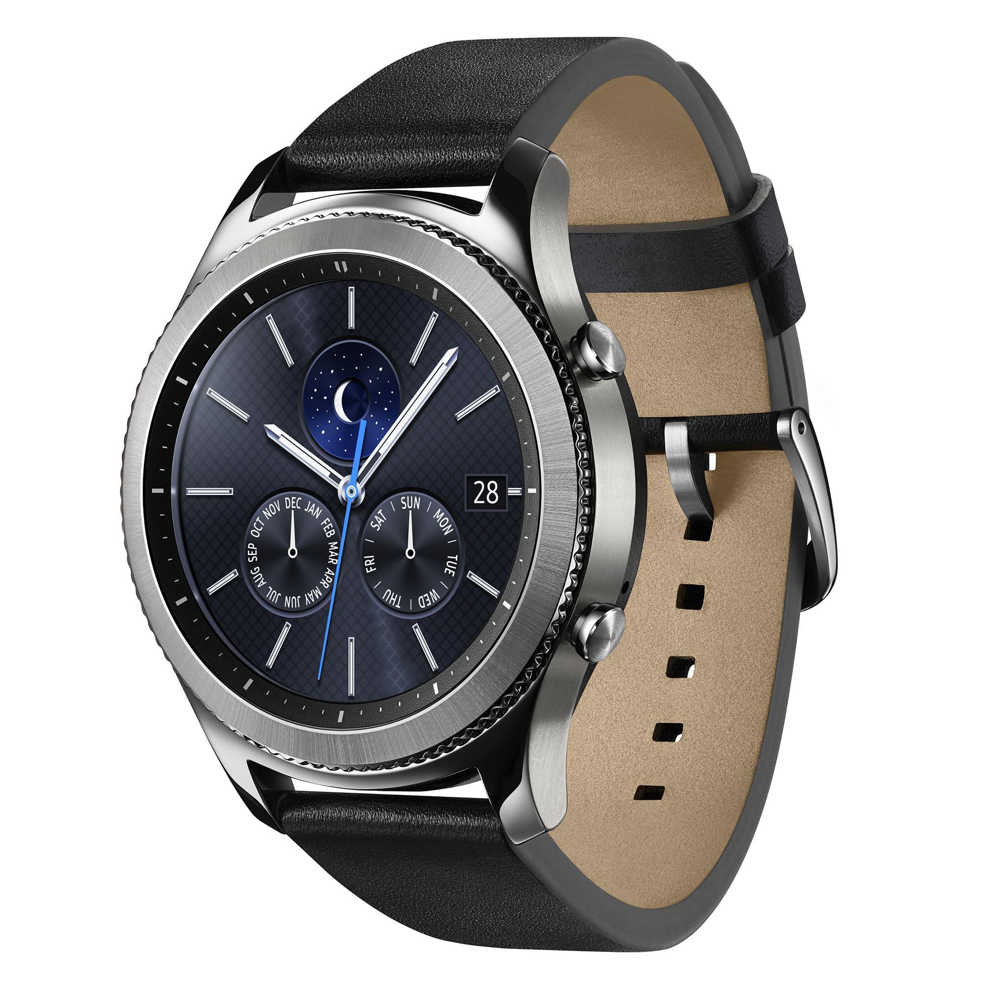 Fotografie Ceas Smartwatch Samsung Gear S3, Classic, bratara clasica piele, IP68