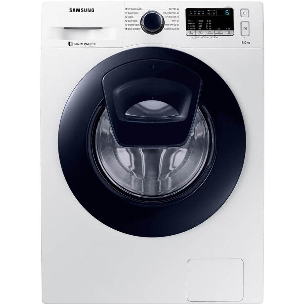 Fotografie Masina de spalat rufe Samsung WW80K44305W/LE, 8 kg, 1400 RPM, A+++, Add Wash, Motor inverter, 60 cm, Alb