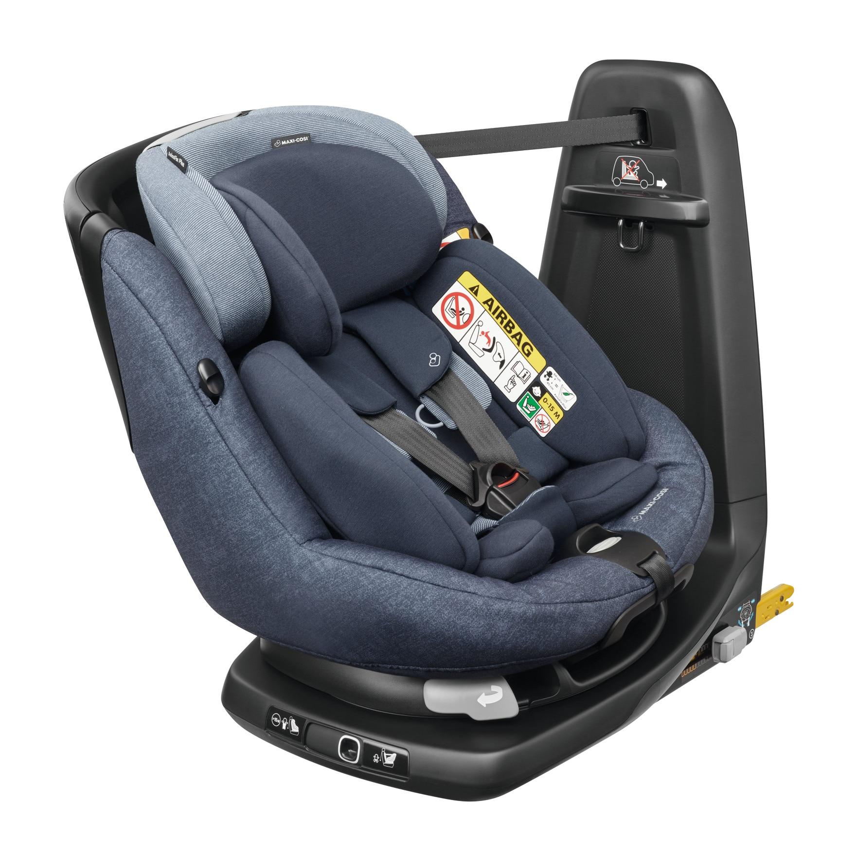Fotografie Scaun auto i-Size Maxi Cosi Axissfix Plus Nomad Blue, Rotativ, 45-105 cm, Albastru