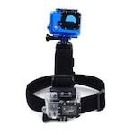 Универсална система за захващане за глава OEM на две екшън камери, Черен