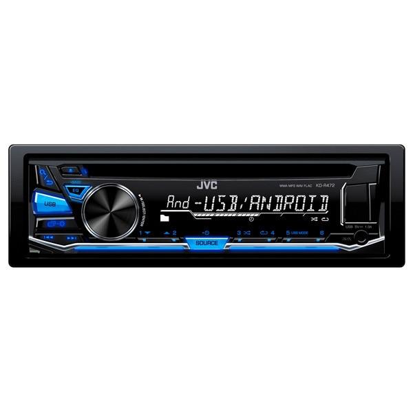 Fotografie Radio CD auto JVC KD-R472, 4x50W, USB, AUX, subwoofer control, iluminare albastru