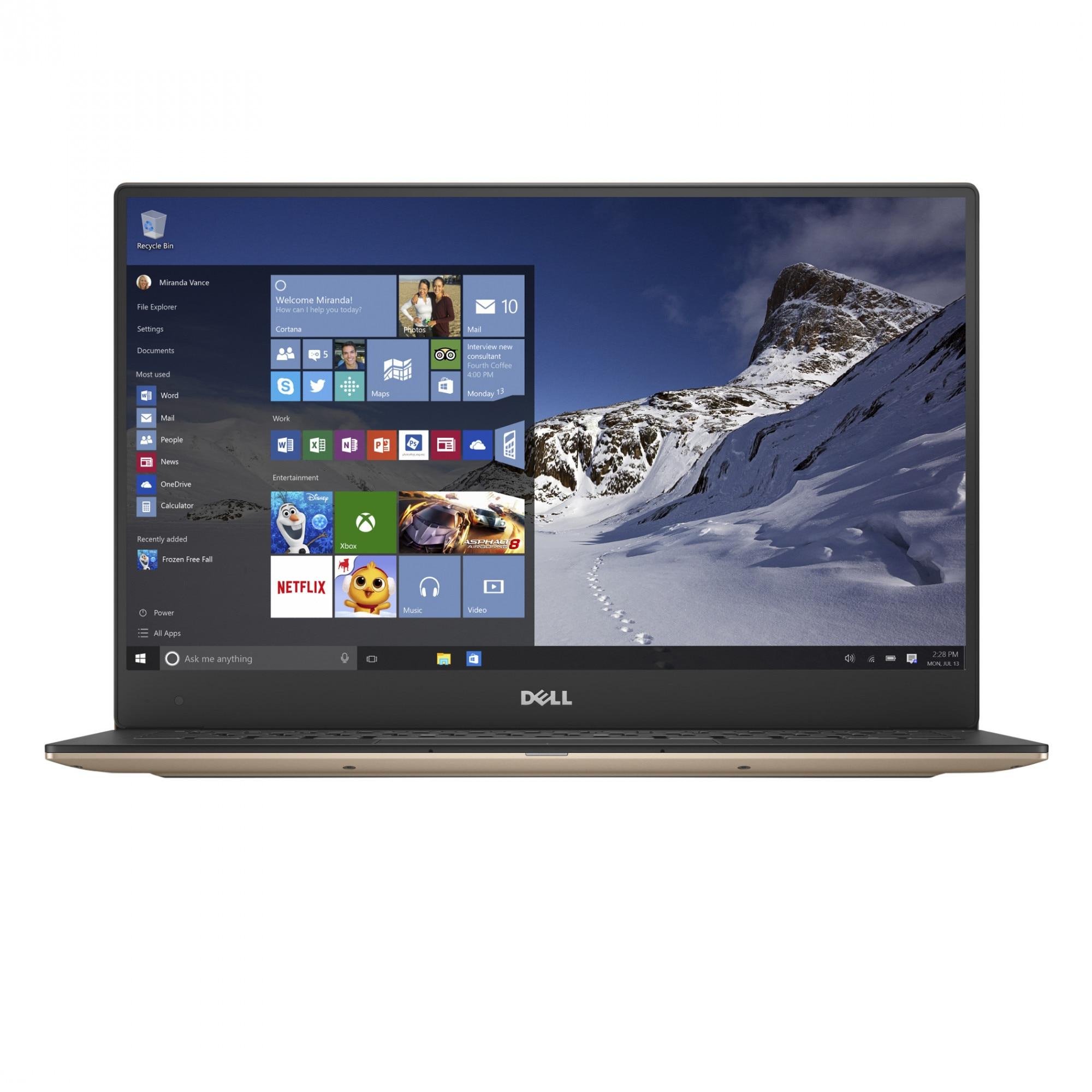 "Fotografie Laptop ultraportabil Dell XPS 13 9360 cu procesor Intel® Core™ i5-7200U pana la 3.10 GHz, 13.3"", Full HD, 8GB, 256GB SSD, Intel® HD Graphics, Microsoft Windows 10, Rose Gold"