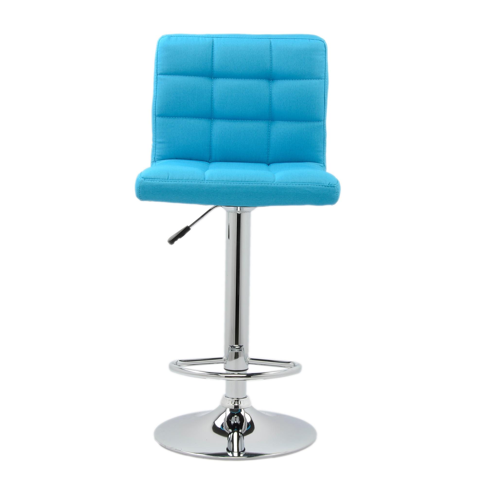 Fotografie Scaun de bar cromat Kring 21, textil, Albastru deschis