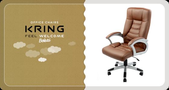Kring Bokai Ergonomikus irodai szék, Műbőr, Kávé