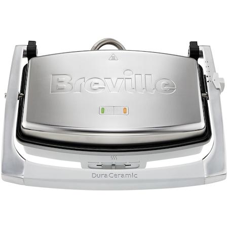 Sandwich-maker Breville Panini VST071X-01, 1000 W, DuraCeramic, 2-3 sandwich-uri, Argintiu