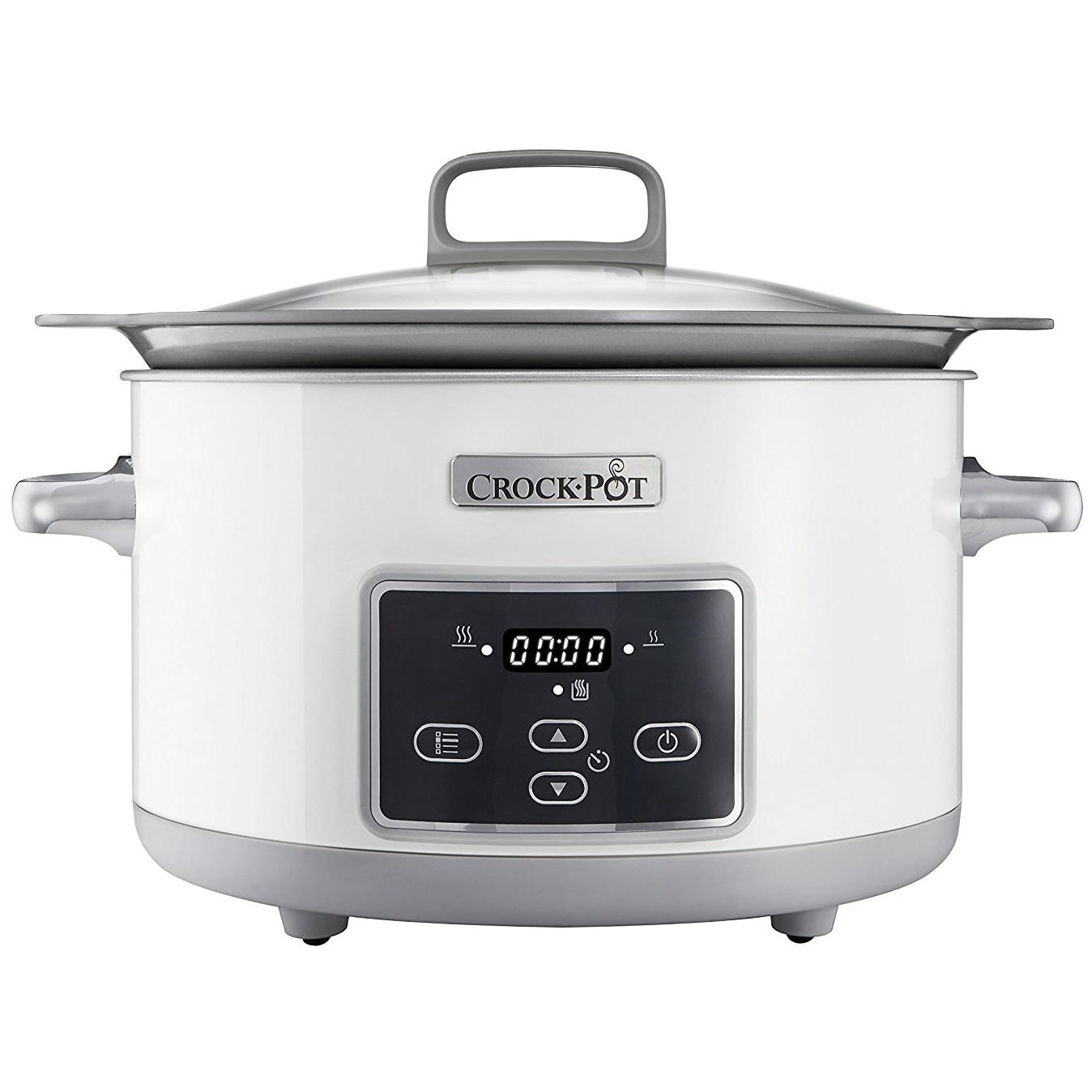 Fotografie Slow cooker Crock-Pot CSC026X-01, 5.0 l, Digital, Vas de ceramica, Alb