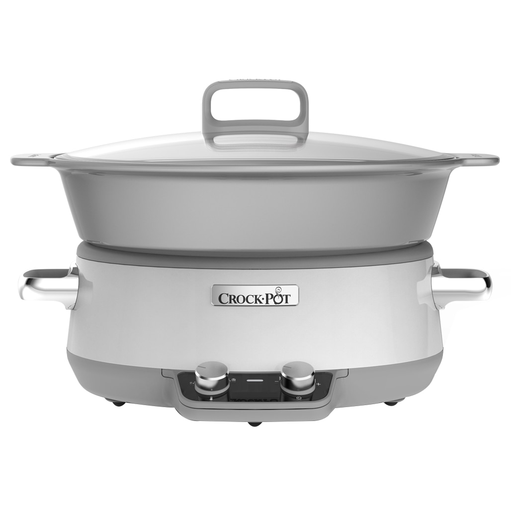 Fotografie Slow cooker Crock-Pot CSC027X-01, 6.0 l, Digital, Vas de ceramica, Alb