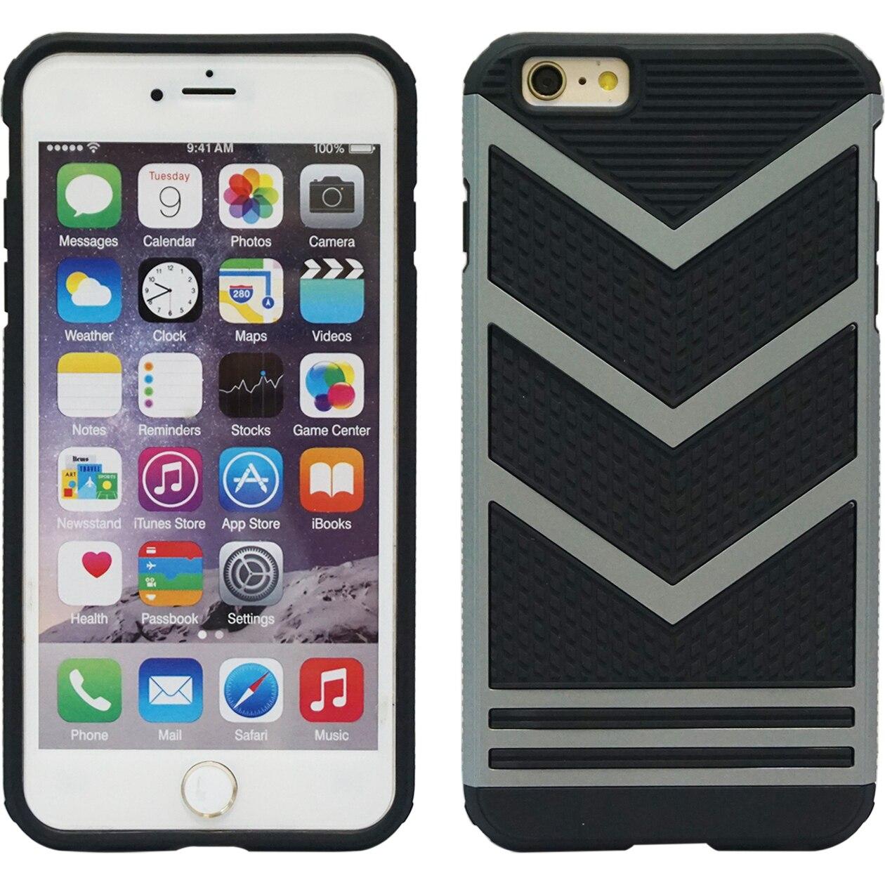 Fotografie Husa de protectie A+ Case Hybrid, pentru iPhone 6 Plus, Negru