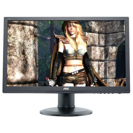"Monitor LED AOC 24"", Wide, HDMI, DVI, DisplayPort, Boxe, Negru, G2460PQU"