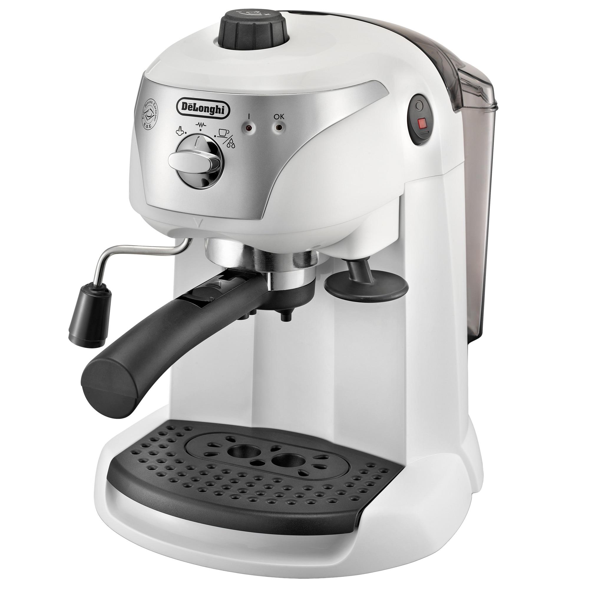 Fotografie Espressor manual De'Longhi EC221.W, Dispozitiv spumare, Sistem cappuccino, 15 Bar, 1 l, Oprire automata, Alb