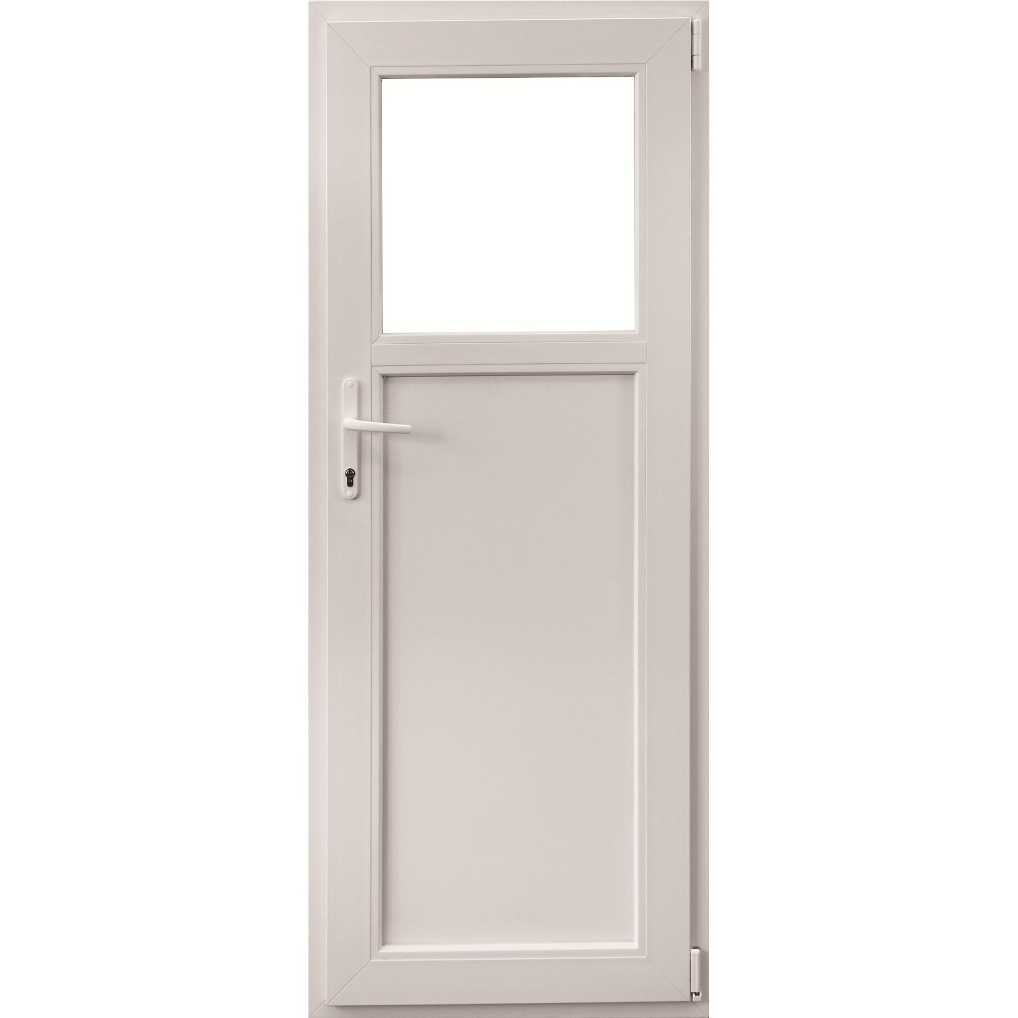 Fotografie Usa termopan, Aplast, PVC , 760 mm x 1880 mm, 1/3 sticla, Alb, deschidere pe dreapta