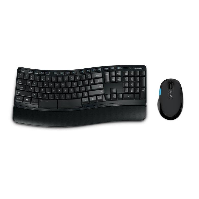 Fotografie Kit Tastatura + Mouse Microsoft Sculpt Comfort Desktop, Wireless, Negru